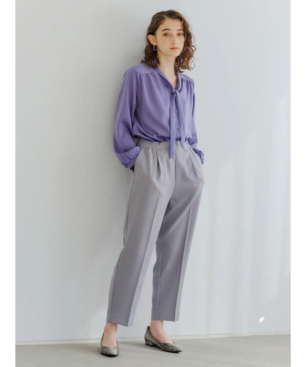 YECCA VECCA ・サテンボウタイブラウス Lavender