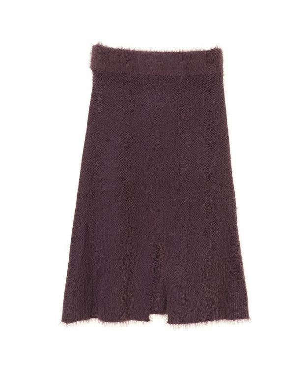 koe ルーズシルエットフェザーニットスカート