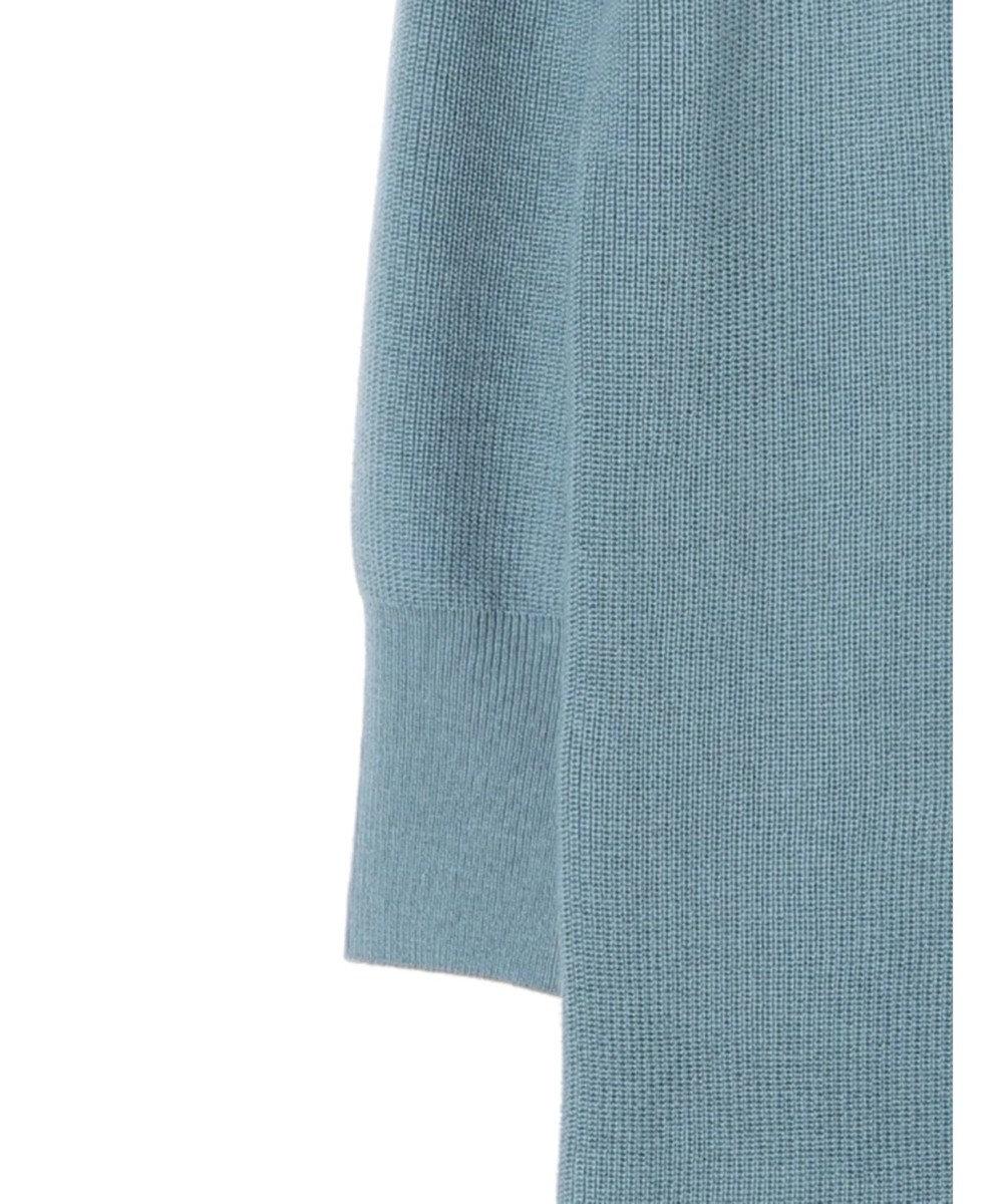YECCA VECCA ・釦デザインハイネックニットワンピース Grayish Blue