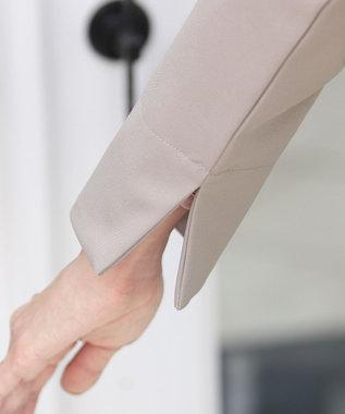 Tiaclasse 【洗える】大人上品なノーカラーAラインコート グレージュ