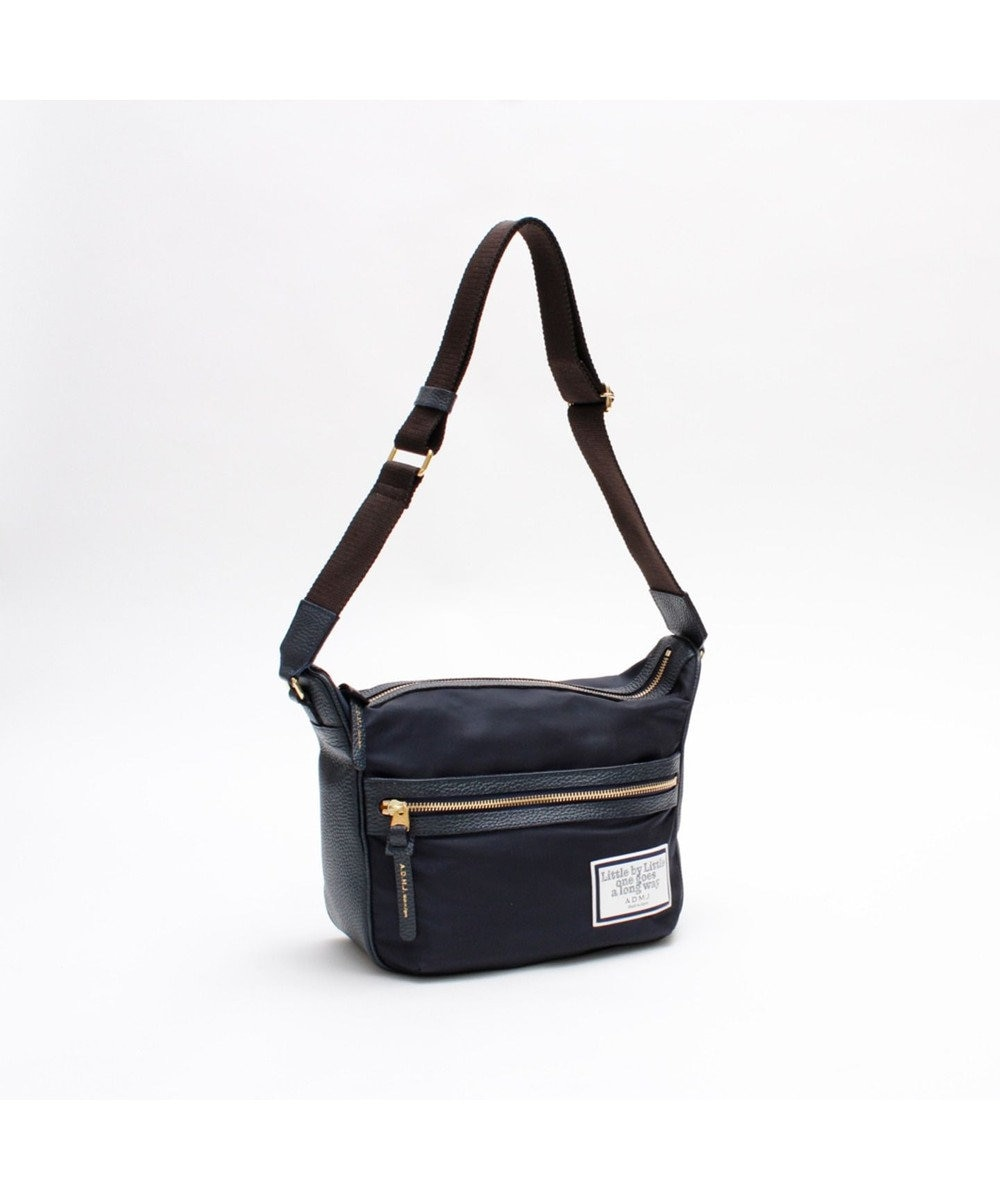 A.D.M.J. リモンタナイロン 25cm SHOULDER BAG NAVY