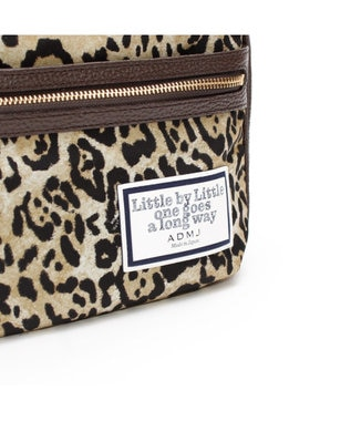 A.D.M.J. リモンタナイロン 25cm SHOULDER BAG LEOPARD