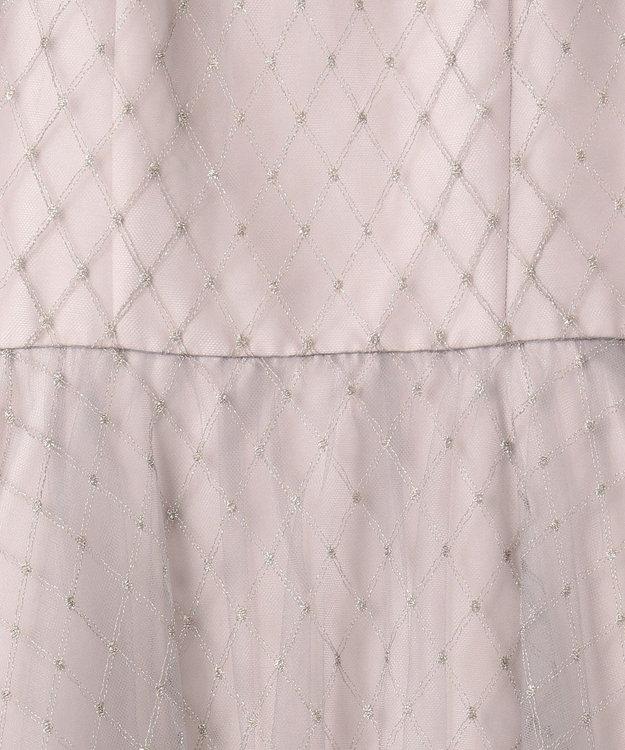 GRACE CONTINENTAL メッシュチュール刺繍ドレス