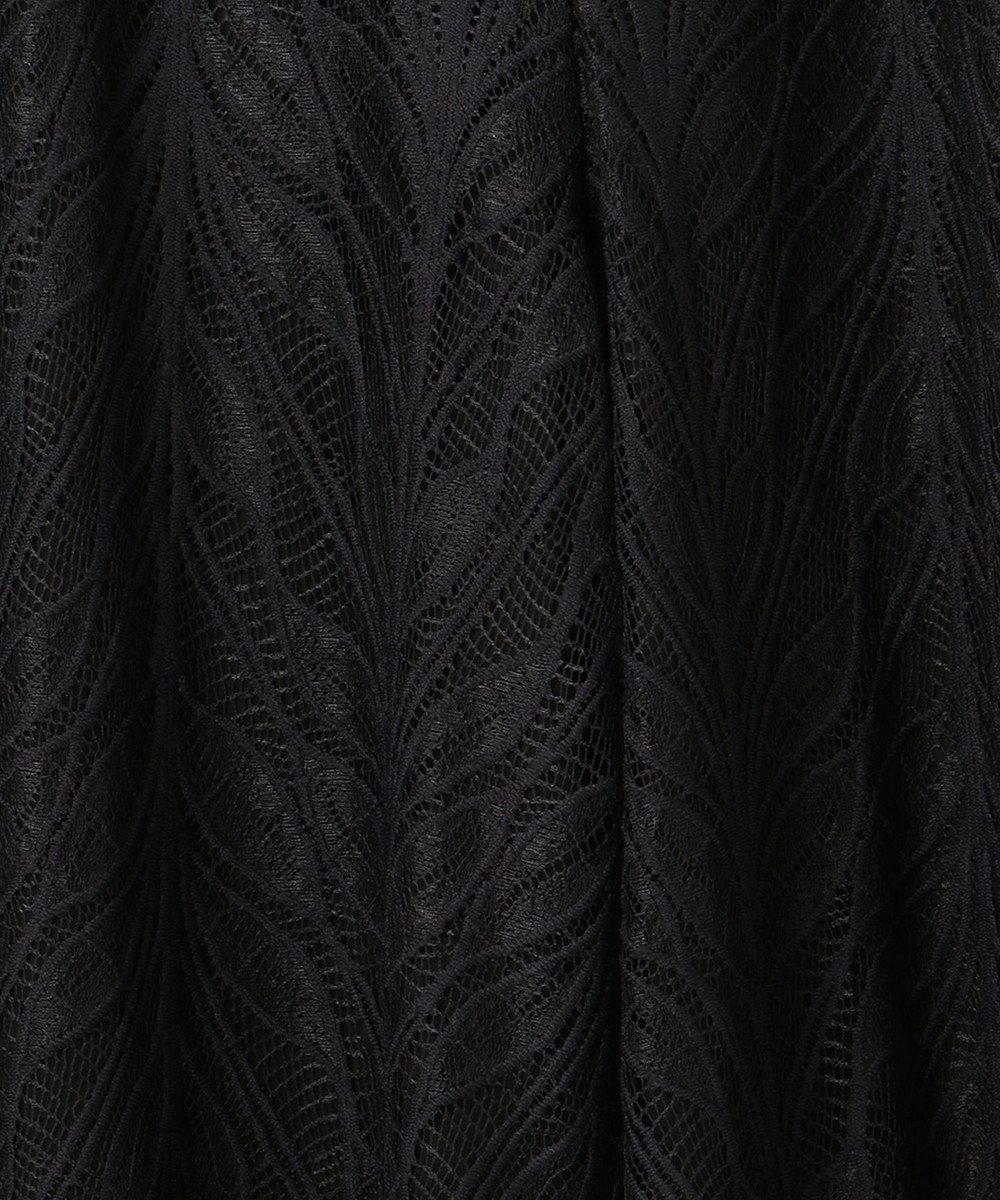 GRACE CONTINENTAL シフォンレイヤードパンツ ブラック