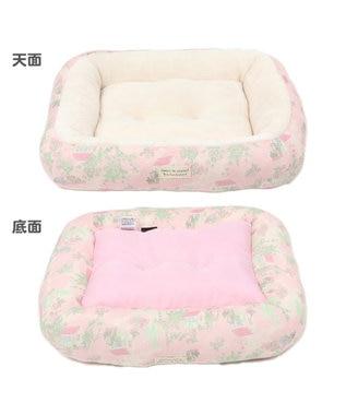 PET PARADISE ペットパラダイス ガーデン柄ベッド S  (約38cm×約32cm) ピンク(淡)