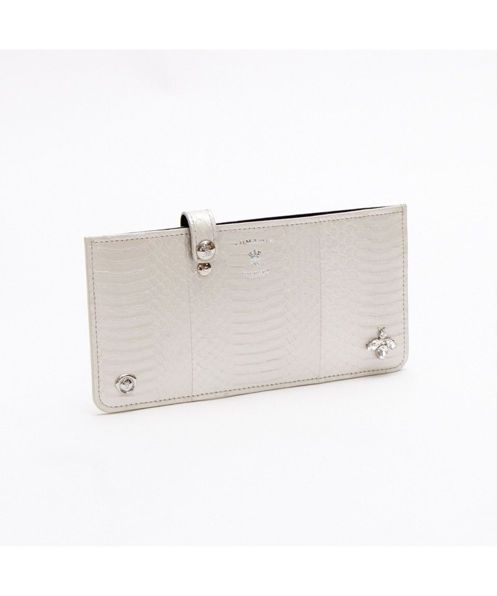 A.D.M.J. The Bee スネークレザー SLIM WALLET WHITE PEARLIZED