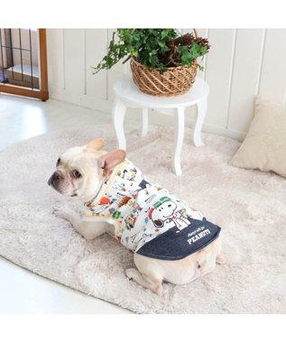 PET PARADISE スヌーピー クラッシック柄 パーカー 〔中型犬〕 白~オフホワイト