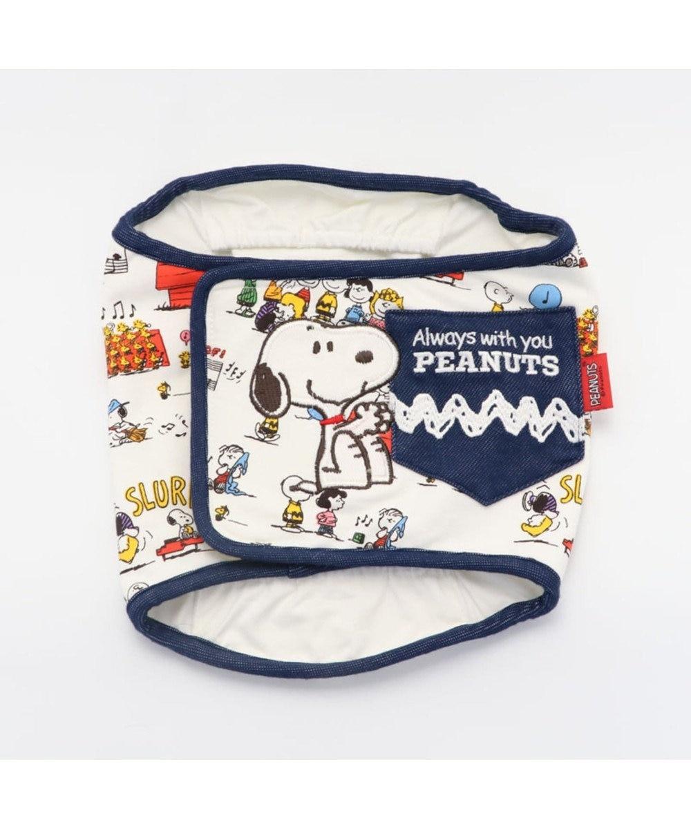 PET PARADISE スヌーピー クラッシク マナーベルト 〔中型・大型犬〕 白~オフホワイト