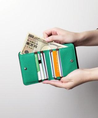 tsumori chisato CARRY フレンチゴード 折財布 グリーン