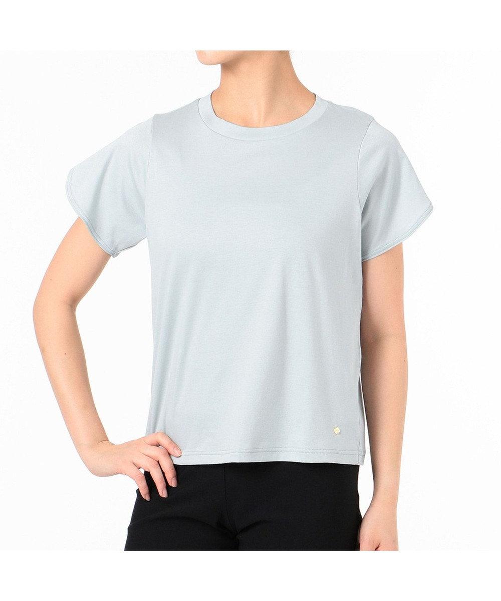 Chacott ペタルスリーブTシャツ ブルー