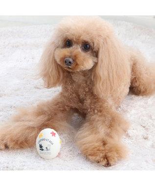 PET PARADISE リサとガスパール 卵 ラテックス トイ 愛犬用 おもちゃ 白~オフホワイト