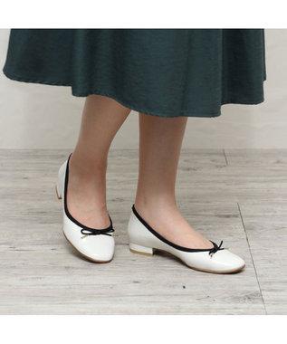 ing 【i.ing】全天候対応バレエシューズ ホワイトコンビ