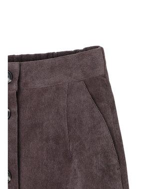 YECCA VECCA ・コーデュロイ釦ナロースカート2 Charcoal Gray