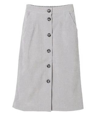 YECCA VECCA ・コーデュロイ釦ナロースカート2 Mint