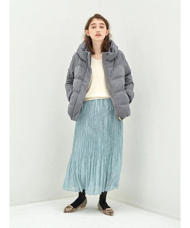 YECCA VECCA ・ドビーシフォンプリーツスカート