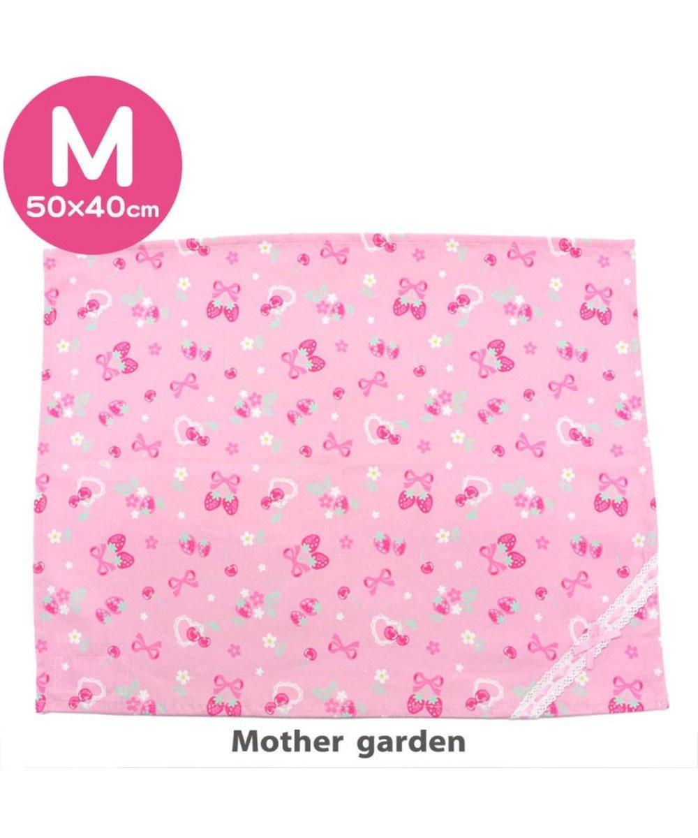 Mother garden マザーガーデン 野いちご ランチマット 大 《ブーケ柄》 ピンク(淡)