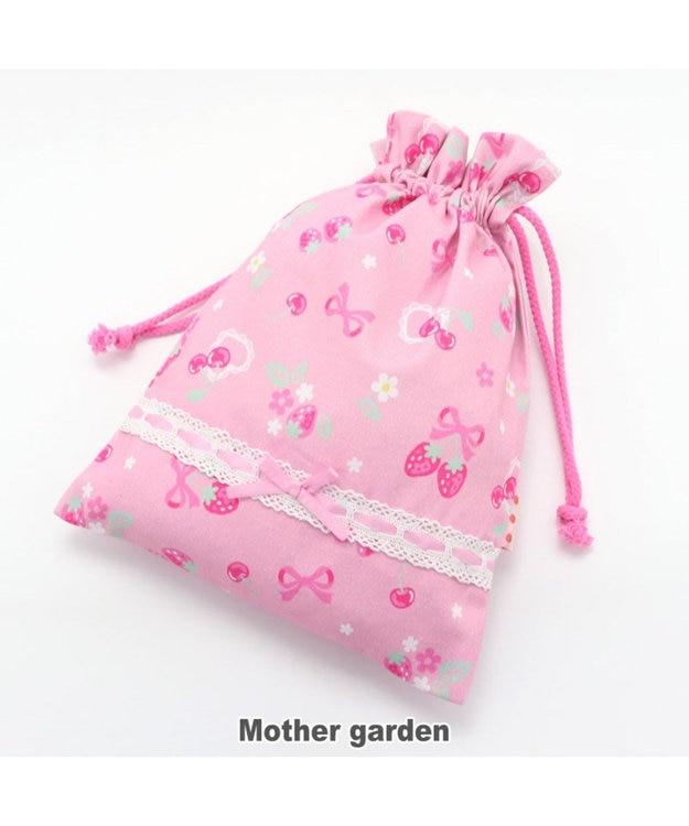 Mother garden マザーガーデン 野いちご 巾着 小  《ブーケ柄》 着替え袋