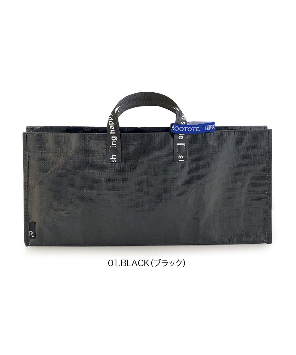 ROOTOTE 6785【TV紹介商品:テイクアウトバッグ】/ テイクアウェイルー.タープ L -A 01:ブラック