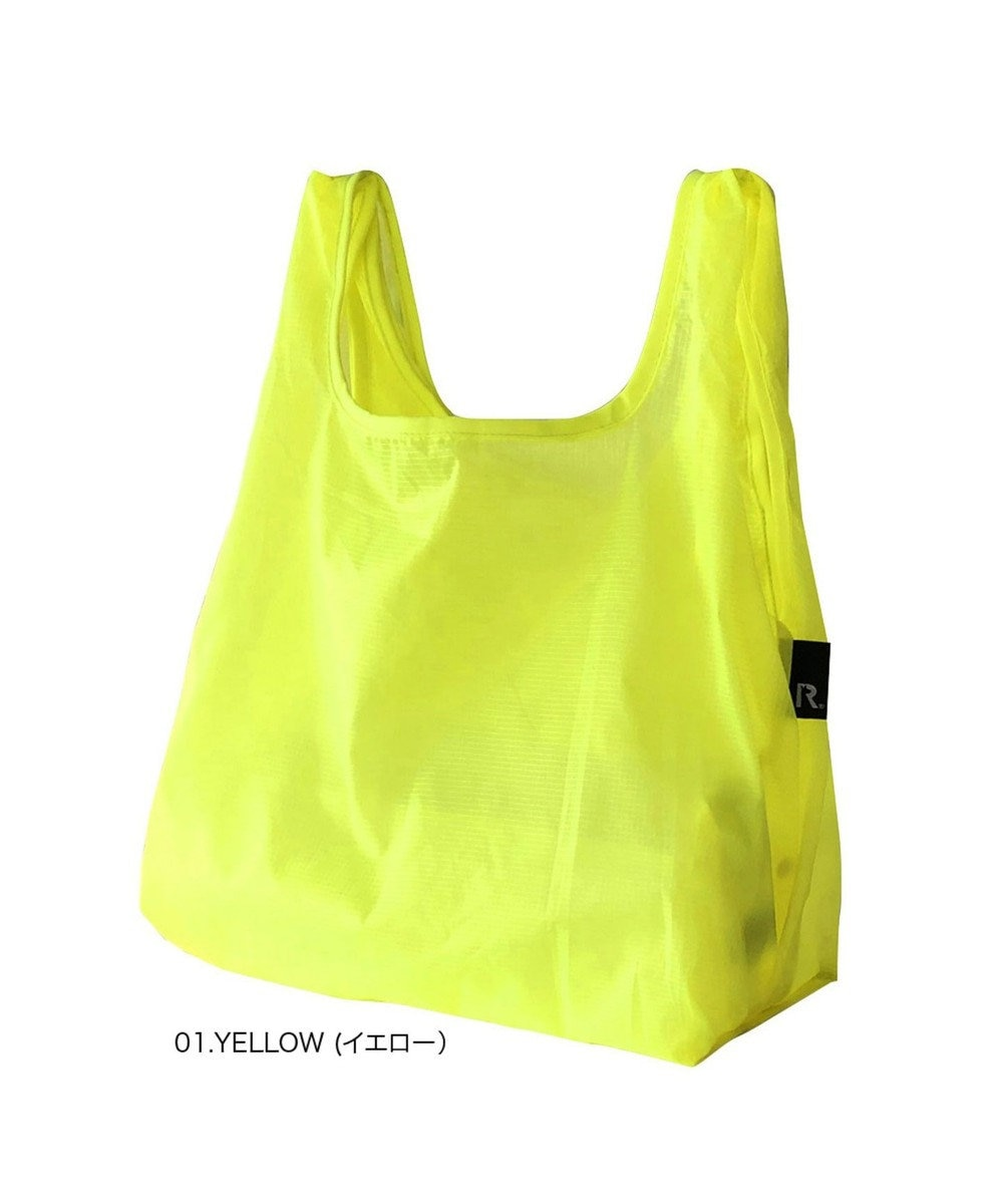ROOTOTE 6757【洗濯可能:ミニサイズエコバッグ】/ ルーショッパーMID-Lifty-Lazy-A 01:イエロー