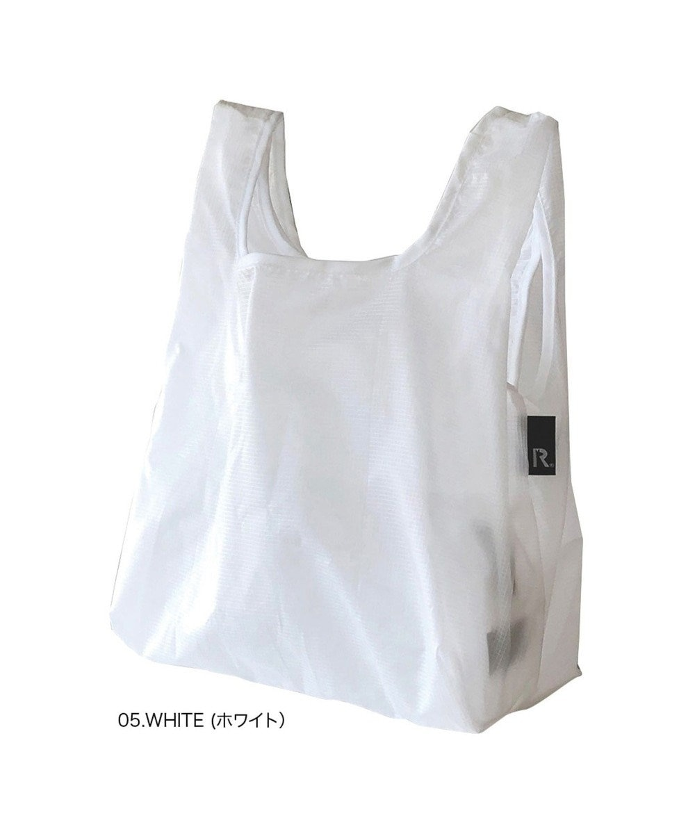 ROOTOTE 6757【洗濯可能:ミニサイズエコバッグ】/ ルーショッパーMID-Lifty-Lazy-A 05:ホワイト