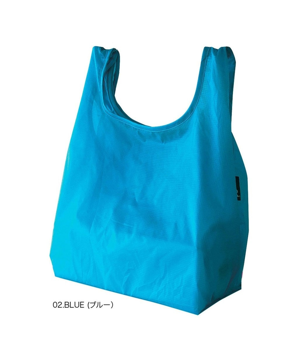 ROOTOTE 6757【洗濯可能:ミニサイズエコバッグ】/ ルーショッパーMID-Lifty-Lazy-A 02:ブルー