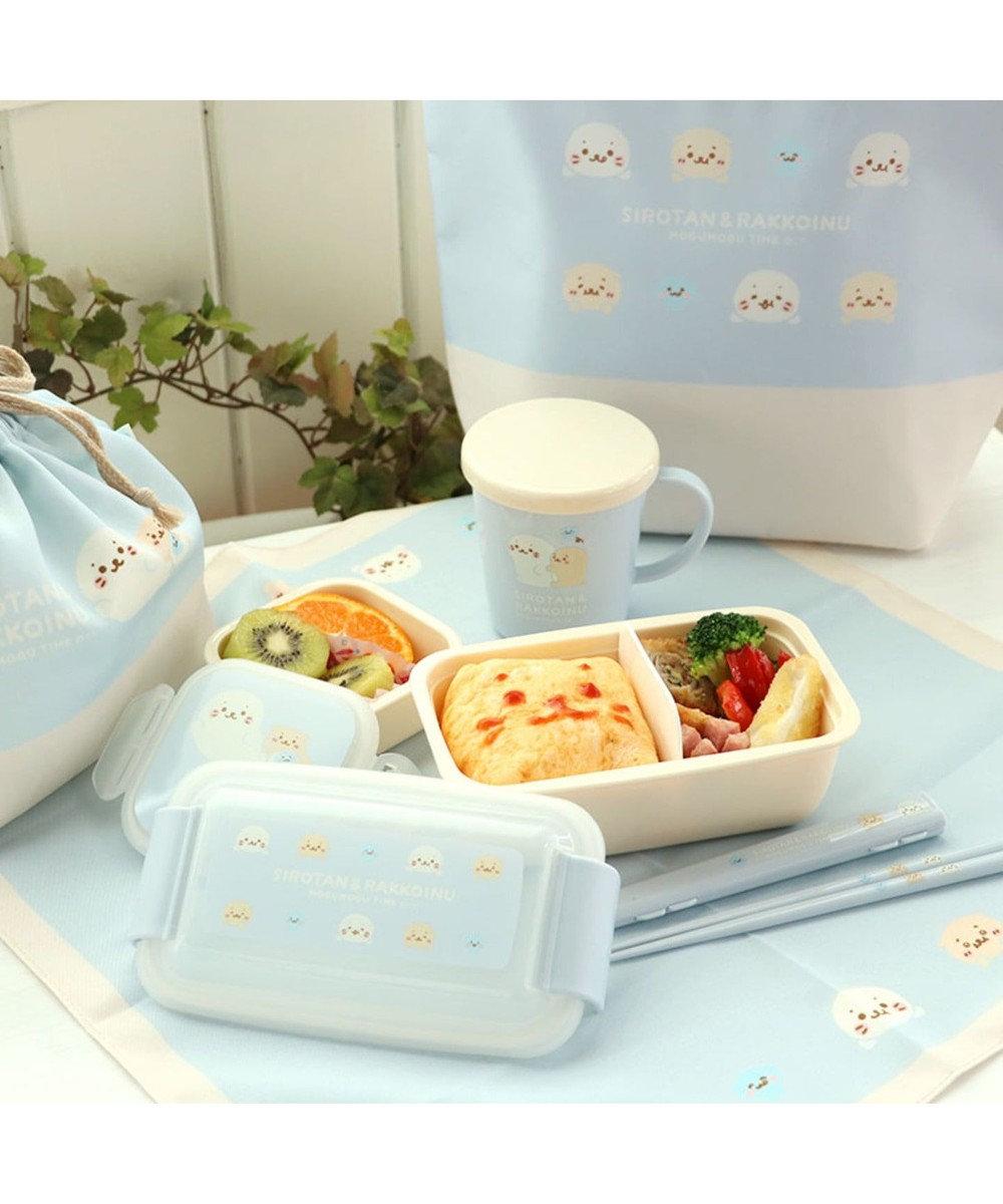 Mother garden しろたん もぐもぐ柄 フルーツケース日本製 デザートケース 水色