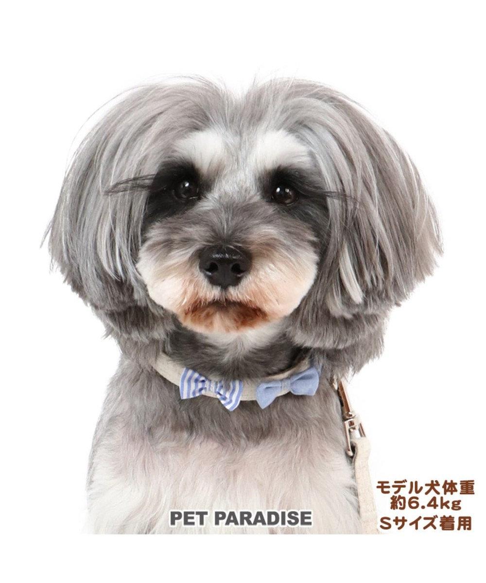 PET PARADISE ペットパラダイス りぼん 首輪  ペットSS 〔小型犬〕 ベージュ