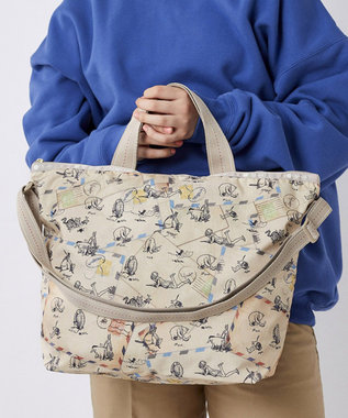 LeSportsac DELUXE EASY CARRY TOTE/クラシックプー レターズ クラシックプー レターズ