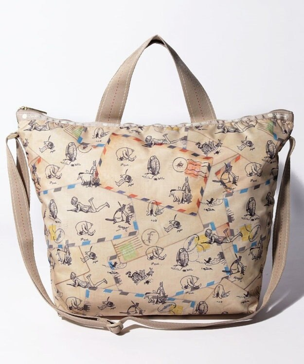 LeSportsac DELUXE EASY CARRY TOTE/クラシックプー レターズ