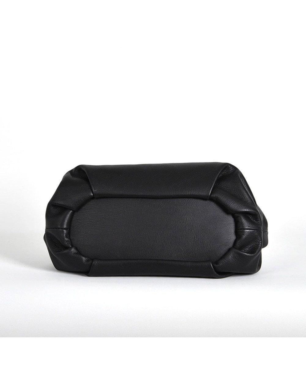 LA BAGAGERIE 【インスタグラマー・本郷智香子さんコラボ商品】フレームソフトレザーバッ ブラック