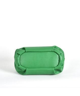 LA BAGAGERIE 【インスタグラマー・本郷智香子さんコラボ商品】フレームソフトレザーバッ グリーン