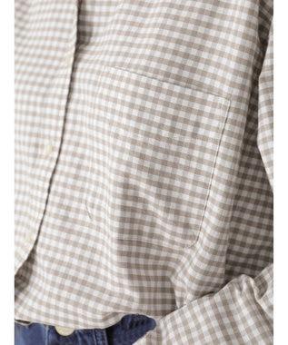 AMERICAN HOLIC スタンドカラー綿オックスシャツ Check