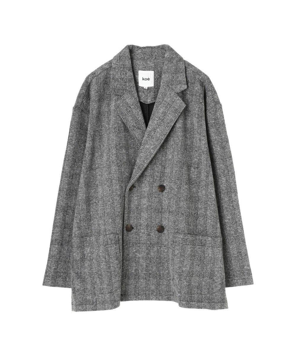 koe グレンチェックジャケット Gray