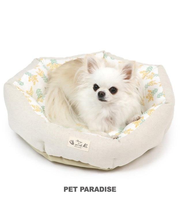 PET PARADISE ペットパラダイス ミモザ柄 カドラーベッド (45cm)