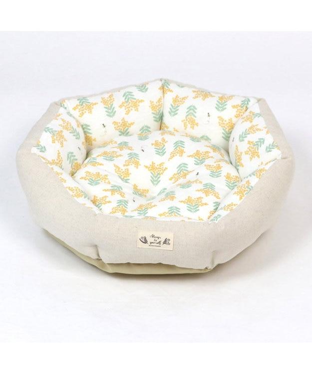 PET PARADISE ペットパラダイス ミモザ柄 カドラーベッド (55cm)