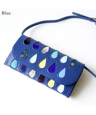 tsumori chisato CARRY ドロップス 財布ショルダー ブルー