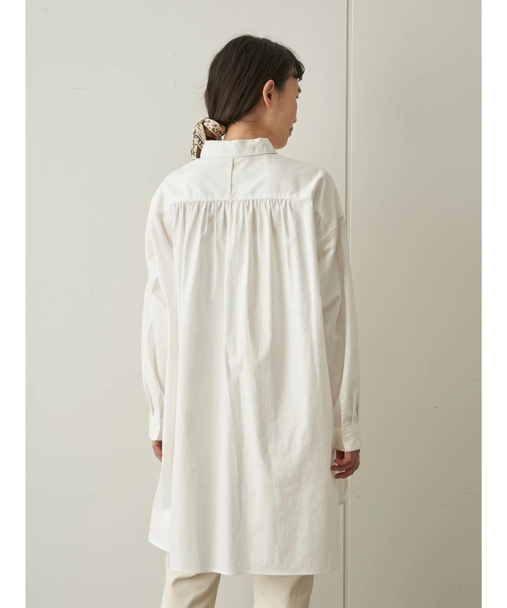 AMERICAN HOLIC レギュラーカラー比翼シャツチュニック Off White