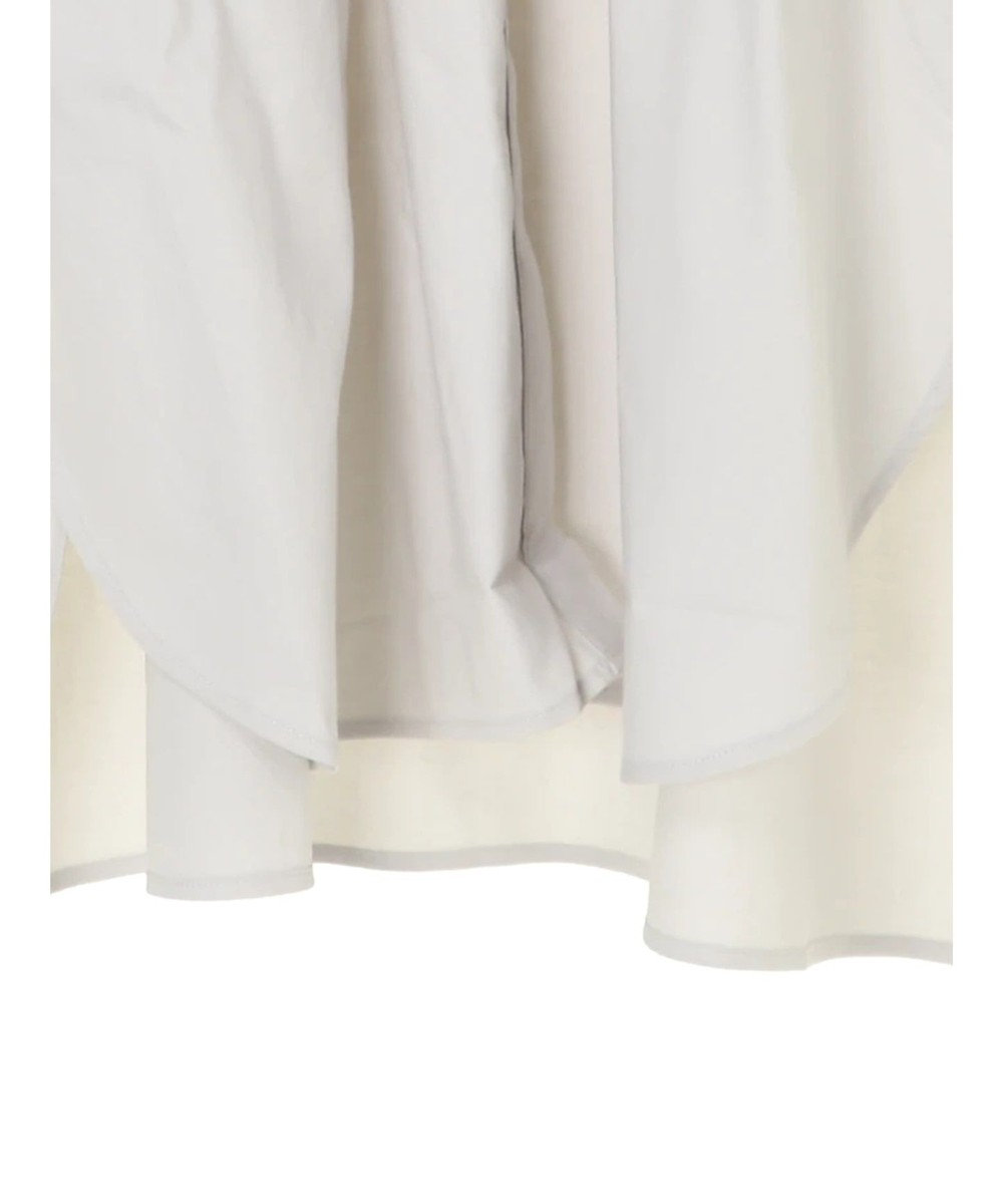 AMERICAN HOLIC レギュラーカラー比翼シャツチュニック Light Gray