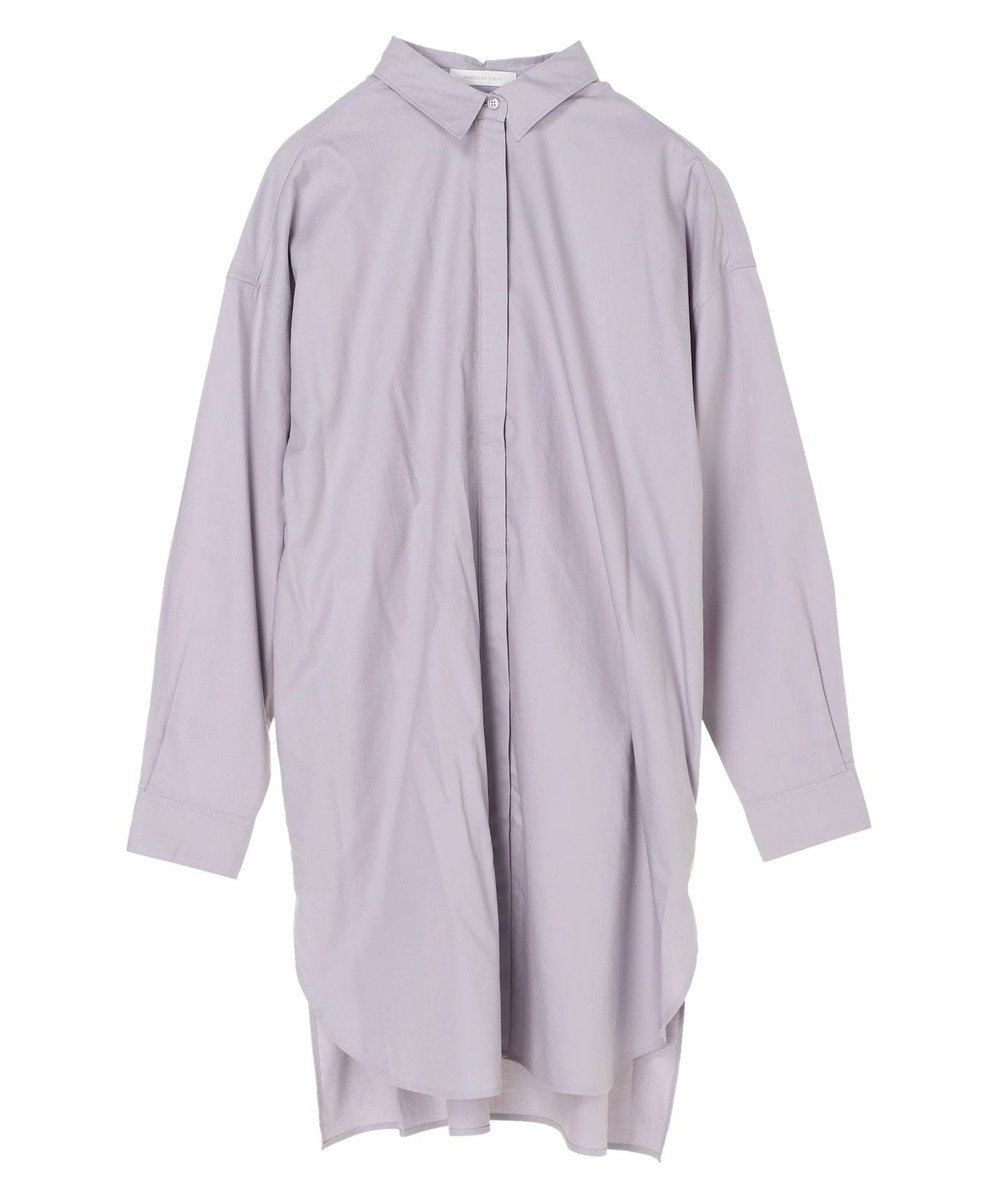 AMERICAN HOLIC レギュラーカラー比翼シャツチュニック Purple