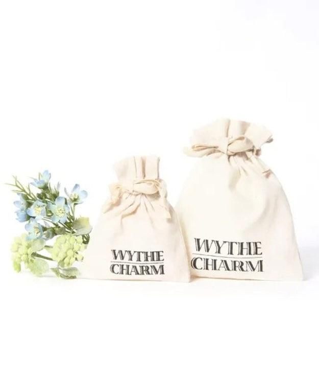 WYTHE CHARM 【虹色カラフル天然石】K14GF ワイヤード天然石2粒ブルーピアス