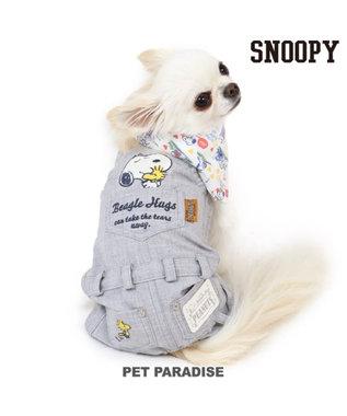 PET PARADISE スヌーピー ビーグルハグ オーバーオール〔超小型・小型犬〕 紺(ネイビー・インディゴ)