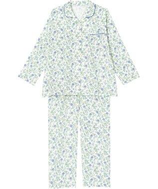 Wing 【パジャマ】花柄 ロング袖・ロングパンツ ウイング/ワコール EP7201 サックス