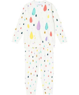 tsumori chisato SLEEP パジャマ ロング袖ロングパンツ しずく柄 /ワコール UDO663 アイボリー