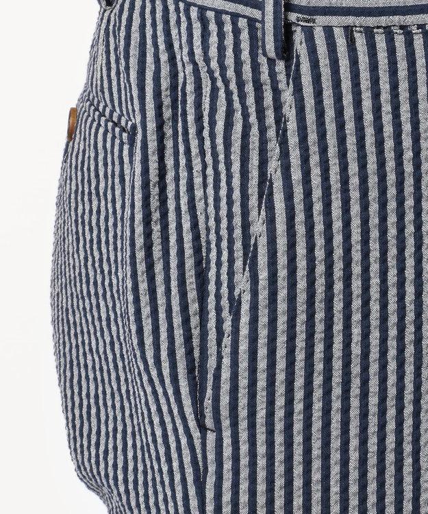 JOSEPH ABBOUD 【キングサイズ・LUXURY COLLECTION】ソフトコットンサッカー パンツ ネイビー系1