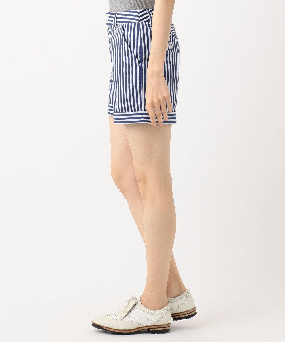 23区GOLF 【WOMEN】【ストレッチ】キャンディストライプ ショーツ ダルブルー系2