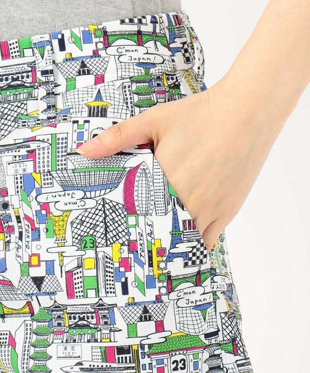 23区GOLF 【WOMEN】【WEB&一部店舗限定/ストレッチ】TOKYO MAP柄 ハーフパンツ
