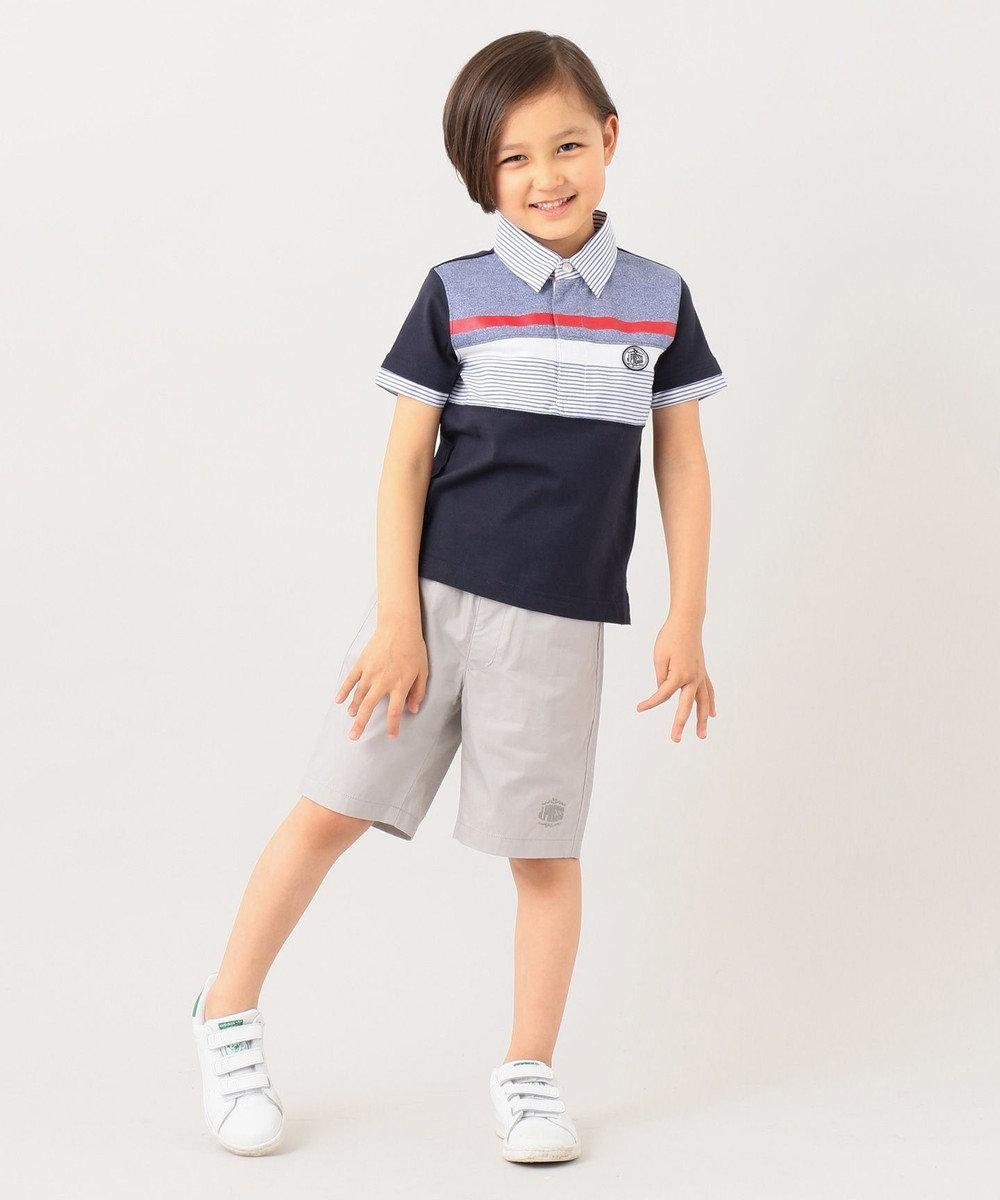 J.PRESS KIDS 【120-130cm】40/2天竺ブロッキング ラガーシャツ ネイビー系