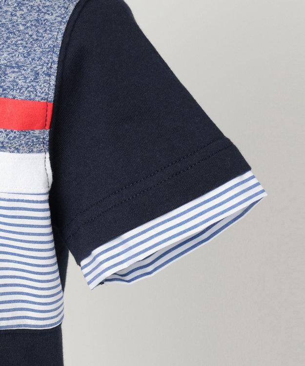 J.PRESS KIDS 【120-130cm】40/2天竺ブロッキング ラガーシャツ