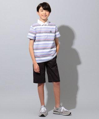 J.PRESS KIDS 【140-170cm】ジャカード天竺ボーダー ラガーシャツ ネイビー系2