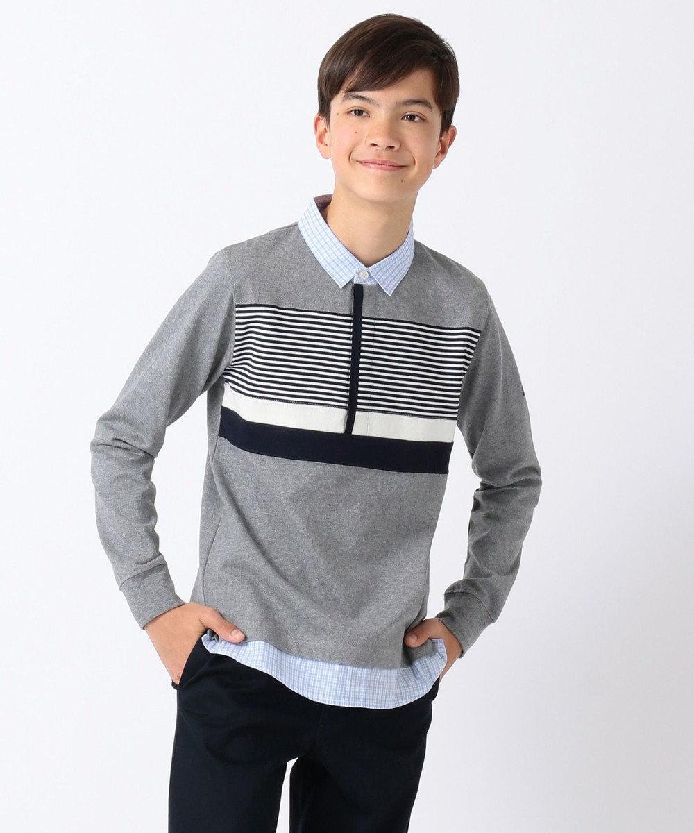 J.PRESS KIDS 【140-170cm】ニューイヤー ラガーシャツ グレー系